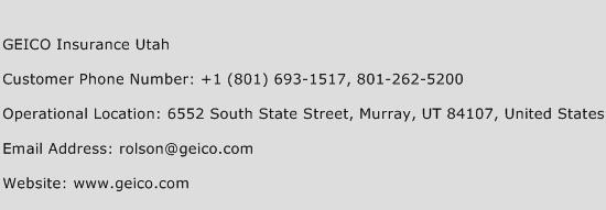 Geico insurance utah customer service phone number for Ebay motors customer service phone number