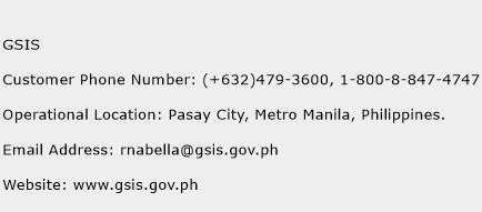 GSIS Phone Number Customer Service