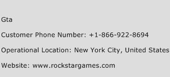 GTA Phone Number Customer Service
