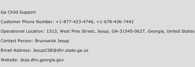 Ga Child Support Phone Number Customer Service