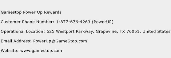 Gamestop Power Up Rewards Phone Number Customer Service