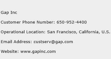 Gap Inc Phone Number Customer Service