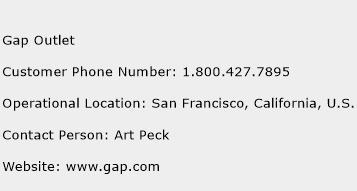 Gap Outlet Phone Number Customer Service