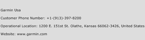 Garmin Usa Phone Number Customer Service