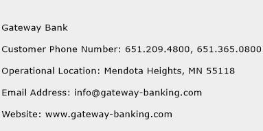 Gateway Bank Phone Number Customer Service