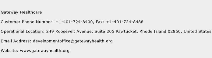 Gateway Healthcare Phone Number Customer Service