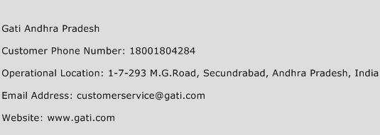 Gati Andhra Pradesh Phone Number Customer Service