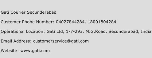 Gati Courier Secunderabad Phone Number Customer Service