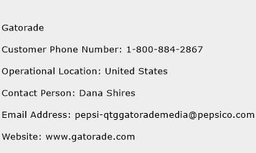 Gatorade Phone Number Customer Service