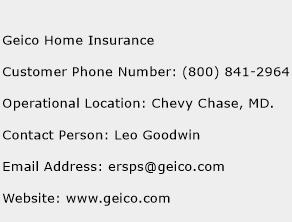 Geico Home Insurance Customer Service Number | Toll Free Phone ...