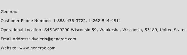 Generac Phone Number Customer Service