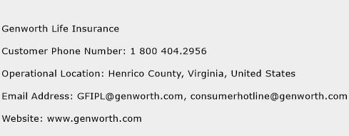 Genworth Life Insurance Phone Number Customer Service