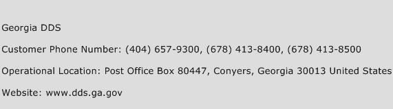 Georgia DDS Phone Number Customer Service