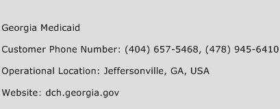 Georgia Medicaid Phone Number Customer Service