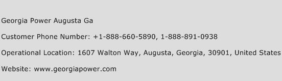 Georgia Power Augusta Ga Customer Service Number | Toll Free Phone ...