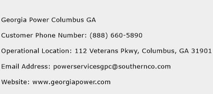 Georgia Power Columbus GA Phone Number Customer Service
