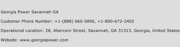 Georgia Power Savannah GA Phone Number Customer Service