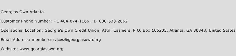 Georgias Own Atlanta Phone Number Customer Service