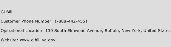 Gi Bill Phone Number Customer Service