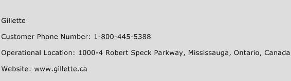 Gillette Phone Number Customer Service