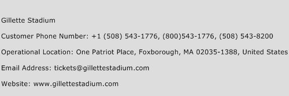 Gillette Stadium Phone Number Customer Service