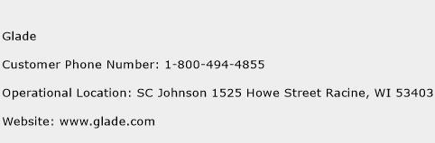 Glade Phone Number Customer Service