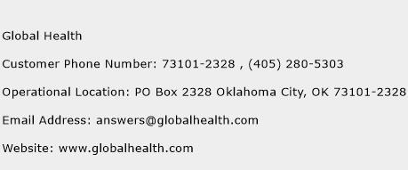 Global Health Phone Number Customer Service