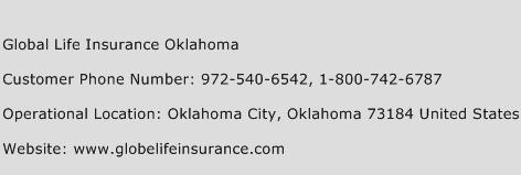Global Life Insurance Oklahoma Phone Number Customer Service