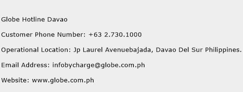 Globe Hotline Davao Phone Number Customer Service