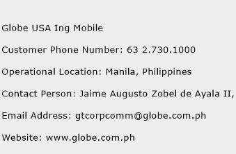 Globe USA Ing Mobile Phone Number Customer Service