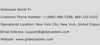 Globecast World TV Phone Number Customer Service