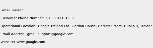 Gmail Ireland Phone Number Customer Service
