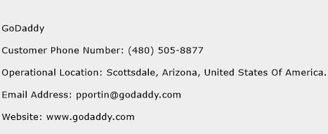 GoDaddy Phone Number Customer Service
