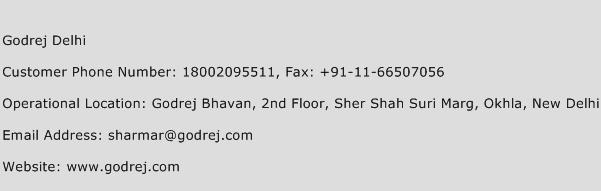 Godrej Delhi Phone Number Customer Service