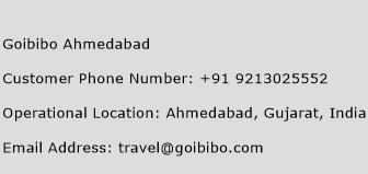Goibibo Ahmedabad Phone Number Customer Service