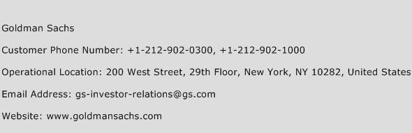 Goldman Sachs Phone Number Customer Service