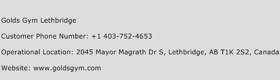Golds Gym Lethbridge Phone Number Customer Service