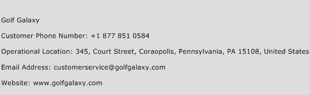 Golf Galaxy Phone Number Customer Service