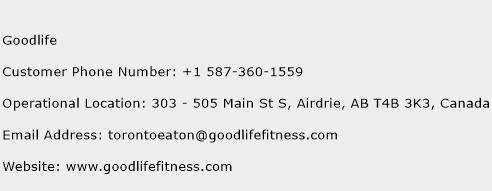 Goodlife Phone Number Customer Service