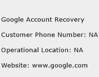 Google Account Recovery Phone Number Customer Service