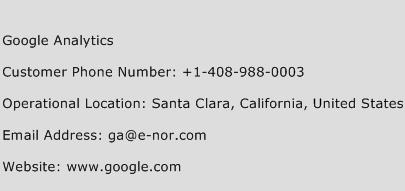 Google Analytics Phone Number Customer Service