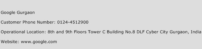 Google Gurgaon Phone Number Customer Service