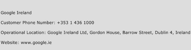 Google Ireland Phone Number Customer Service