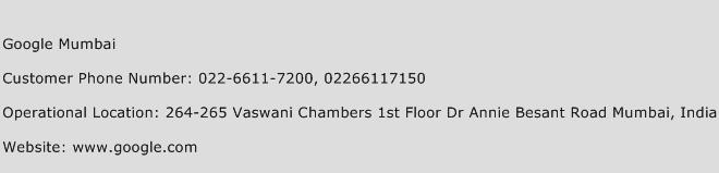 Google Mumbai Phone Number Customer Service