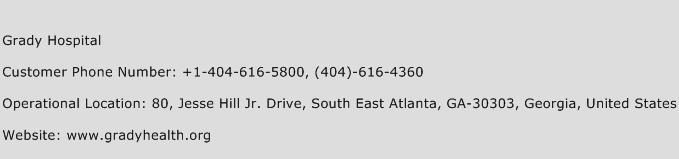 Grady Hospital Phone Number Customer Service