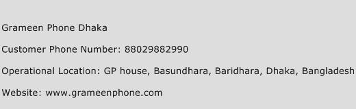 Grameen Phone Dhaka Phone Number Customer Service