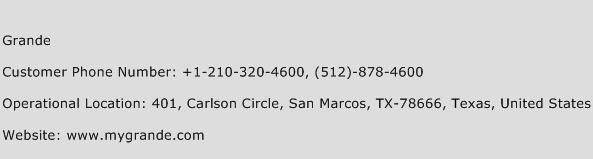 Grande Phone Number Customer Service