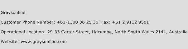 Graysonline Phone Number Customer Service