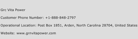 Grc Vita Power Phone Number Customer Service