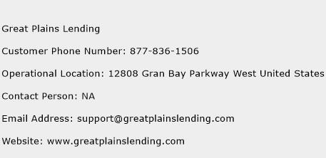 Great Plains Lending Phone Number Customer Service